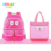 Hot buy child backpack schoolgirl book bag nylon waterproof pink 1 to 6 grade backpack High quality Travel bag boy 2017