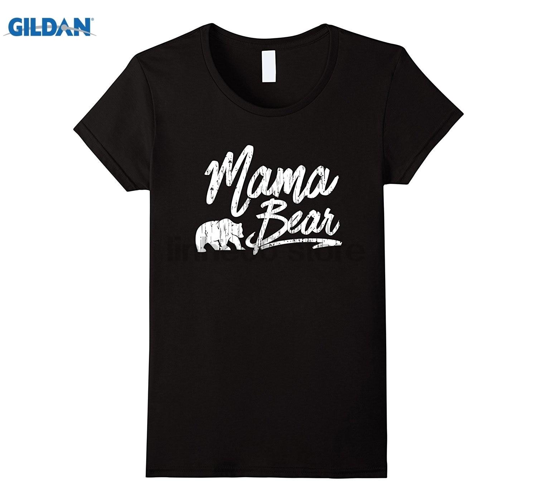 GILDAN Womens Mama Bear Women T Shirt (Christmas Gift T shirt) dress T-shirt