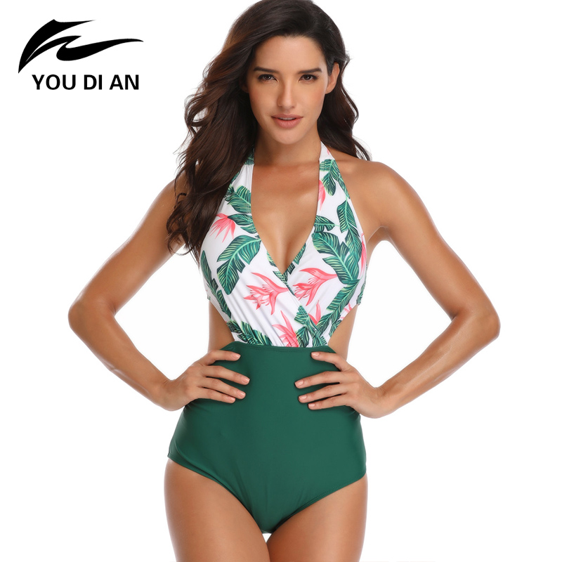SWIMSUITSFORALL Swimsuits for All Womens Plus Size Green Palm High Low Tunic Swimsuit Cover Up 22//24 Multi