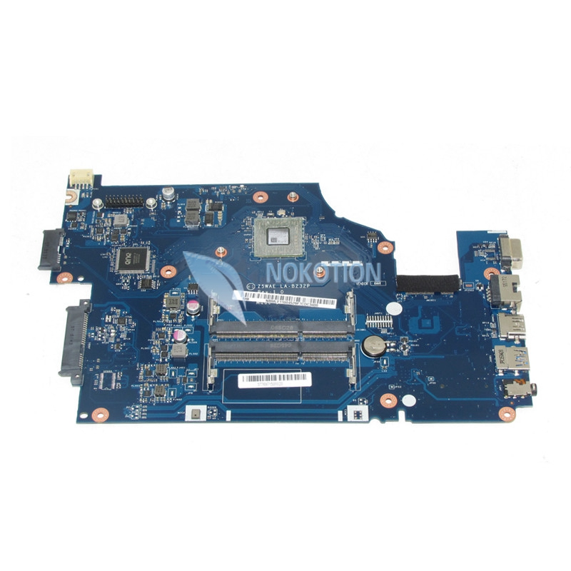 NOKOTION NBMLF11004 Z5WAE LA-B232P Laptop motherboard For acer aspire E5-521 A6-6310 CPU NB.MLF11.004 Mainboard Works nokotion laptop motherboard for acer aspire 5551 nv53 mbbl002001 mb bl002 001 mainboard tarjeta madre la 5912p mother board