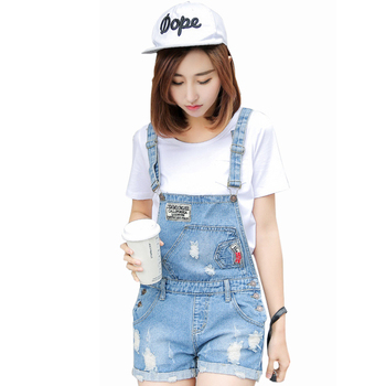 Womens Jumpsuit Denim Overalls 2016 Summer Style Denim Shorts Plus size Casual Skinny Girls Playsuit   Pants Jeans Short Jeans plus size women in overalls