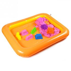 Image 2 - Inflatable Sand Tray Plastic Mobile Table For Children Kids Indoor Playing Sand Clay Color Mud Toys Accessories