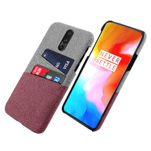 For OnePlus 6T 5G Case Slim Retro Woven Fabric Cloth Anti-scratch Hard PC Back Cover For One plus 7 7 Pro Case Shockproof