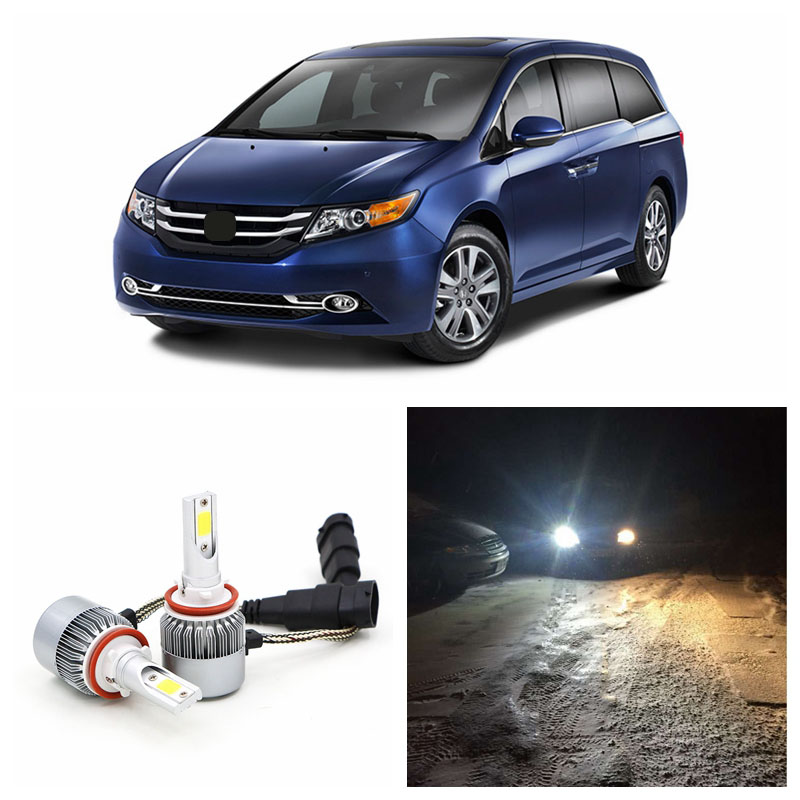 LED Headlight Bulbs Kit Low Beam for HONDA Odyssey 2011-2016 6000K White