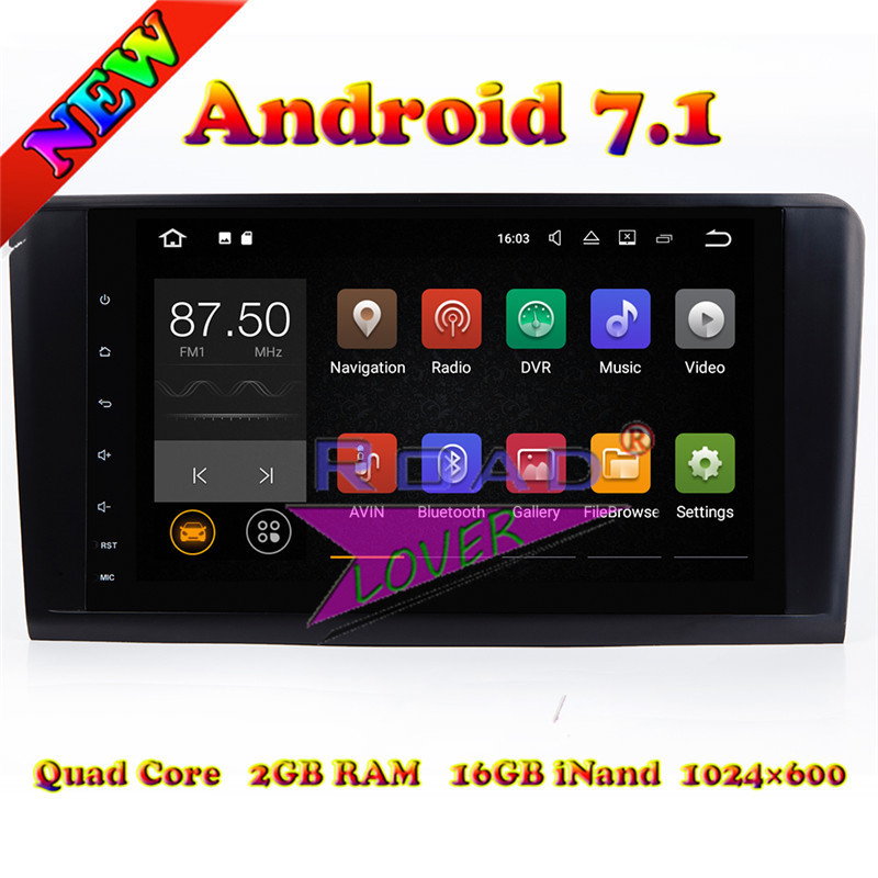 Lecteur de Navigation GPS de voiture TOPNAVI Android 7.1 pour Mercedes Benz ML classe W164 ML350 ML430 ML450 ML500 GL320/r-class W219 stéréo
