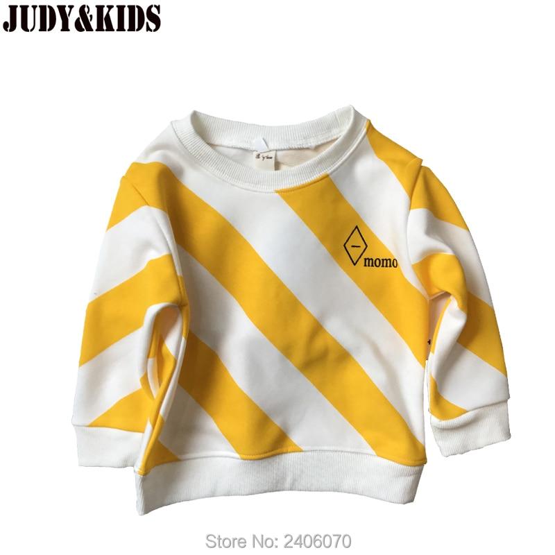 brand clothes children autumn hoodies boy fashion sweatshirt long sleeve striped t-shirt casual kid girls yellow tops korean