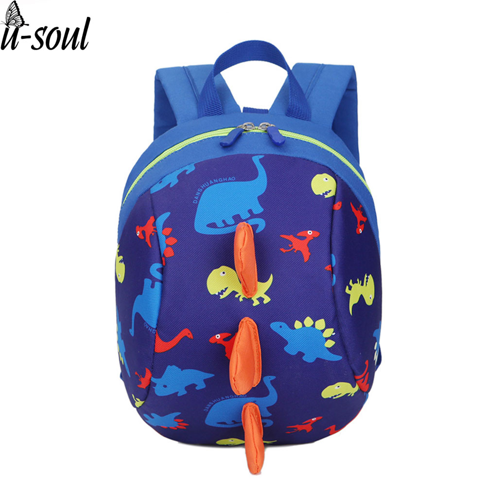 Anti-lost Kids Bags 3d Backpack Cartoon Animal Printing Bags Children Backpacks Boy Girls Kindergarden School Backpack A2804 3d cartoon kindergarden backpack children mini toddler school bags for kids bag girls boys cute animal zoo preschool backpack