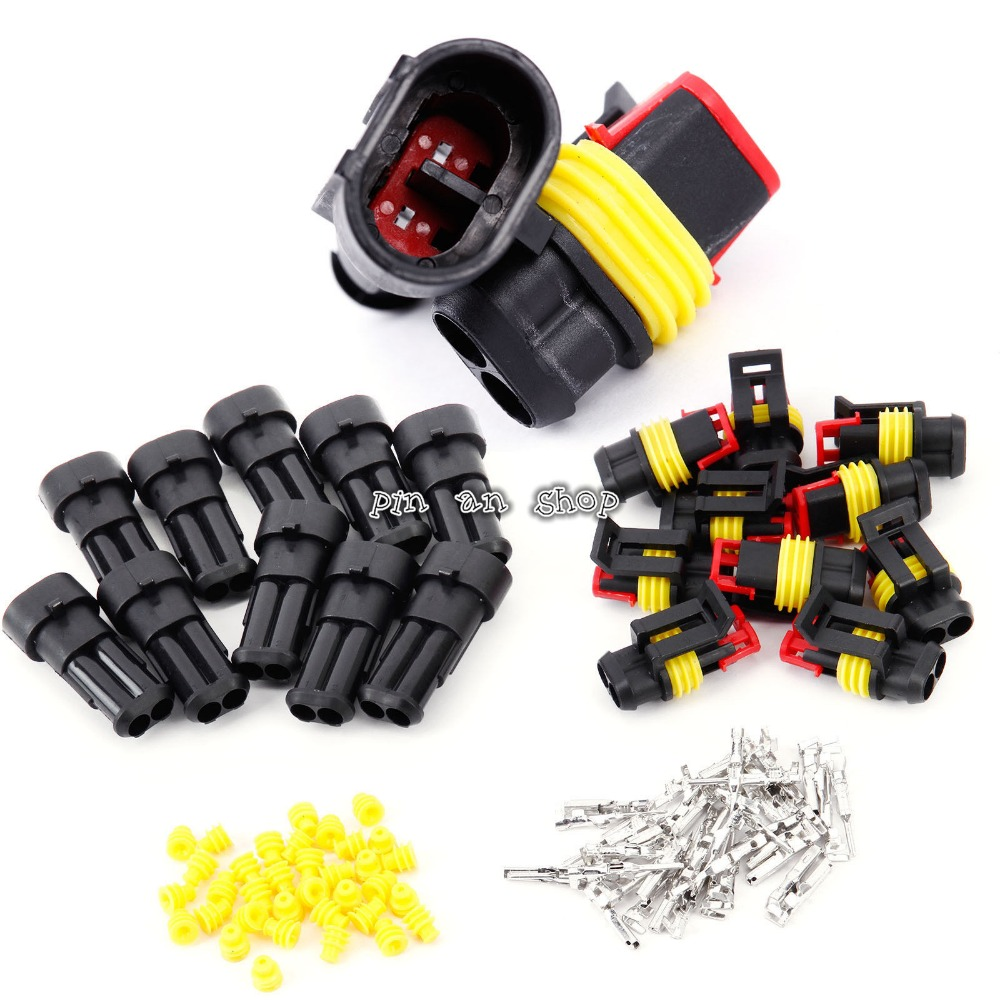 Promotion! 10 Kit 2 Pin Way Waterproof Electrical Wire Connector Plug promotion 10 kit 2 pin way waterproof electrical wire connector plug car part