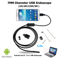 Новый 7 ММ 1 М/2 М/3.5 М/5 М 6LED USB Водонепроницаемый Андроид Эндоскоп Бороскоп труба Змея Камеры 7 мм Объектив Зеркало Как Подарок