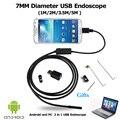 Novo 7 MM 1 M/2 M/3.5 M/5 M Endoscópio Endoscópio 6LED USB Android À Prova D' Água Cobra tubo de Câmera 7mm Lente Espelho Como Presente