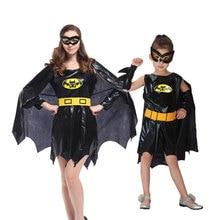 Umorden Purim Carnival Party Halloween Costumes Family Batman Cosplay Girls Bat Man Costume Women Fancy Dress for Adult Kids цена в Москве и Питере