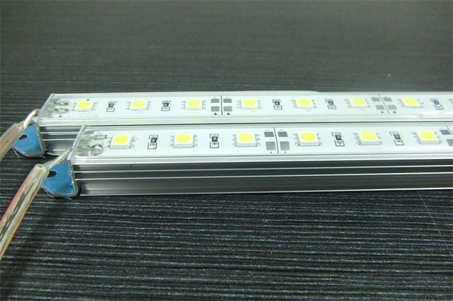 Fedex Free shipping 50pcs/lot Rigid Aluminum Led Strip Light waterproof 12V DC 50cm SMD5050 36SMD/pc For Cabinet with housing