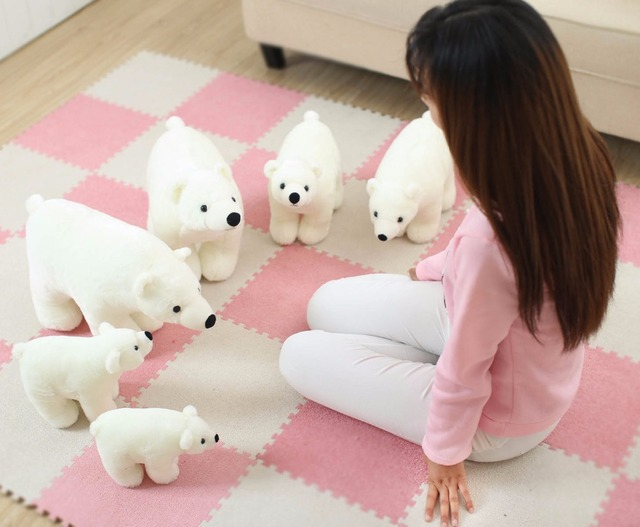 7.8 Inch Plush Polar Bear Sweet Cute Lovely Stuffed Baby Kids Toys for Girls Birthday Christmas Gift Cute Girl 20cm Baby Doll