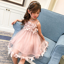 AOSTA BETTY Princess Girls Dress Costume Girl Party Dress Lace Strapless Girls Evening Birthday Dresses Kids Robe Wedding(China)