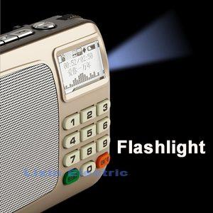 Image 2 - Rolton W505 مشغل MP3 مكبرات الصوت المحمولة الصغيرة راديو FM مع LCD حامل شاشة TF بطاقة تشغيل الموسيقى عالية مصباح ليد جيب