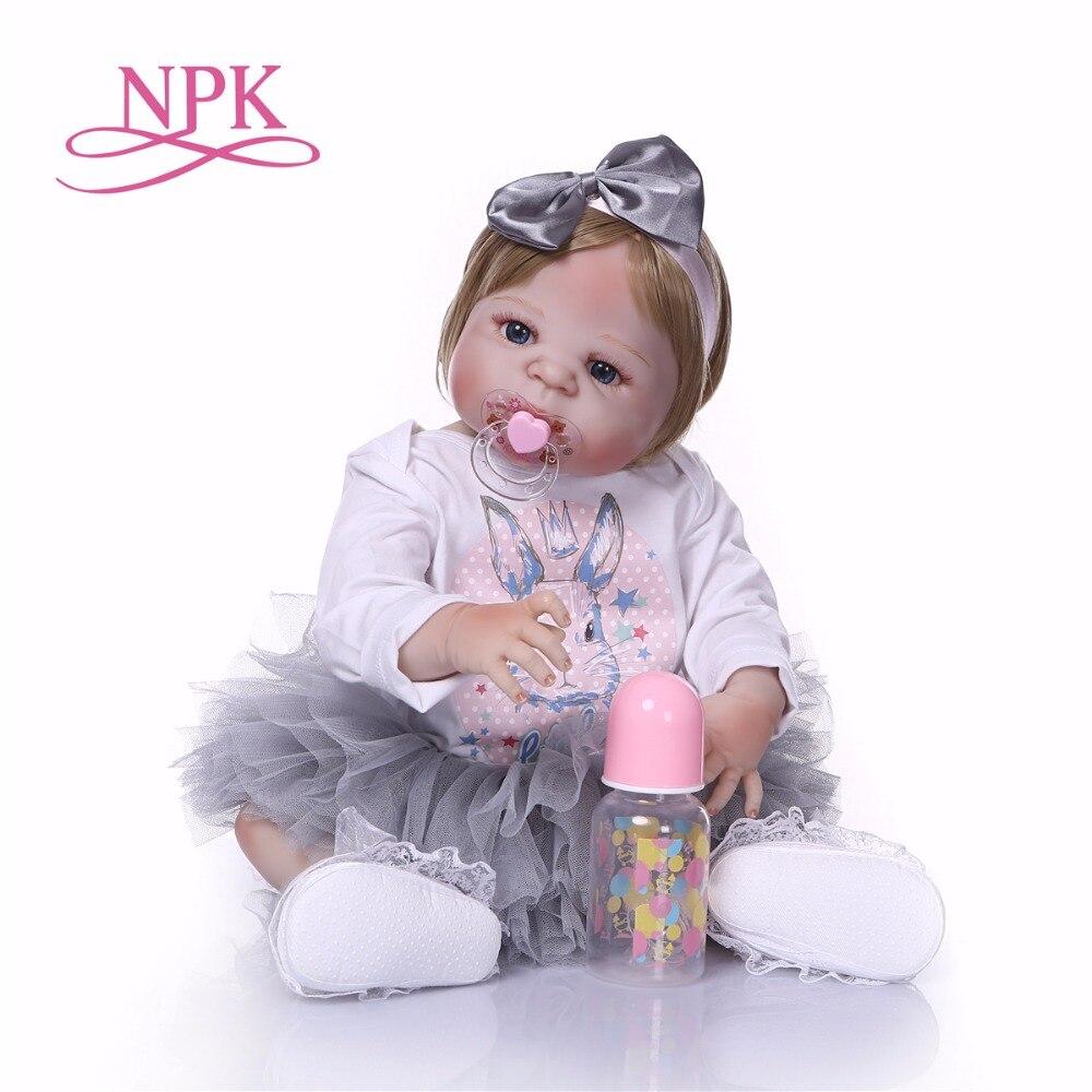 NPK Boneca Reborn moderne Voll Vinyl Reborn Baby Puppe Spielzeug Lebensechte Kind Geburtstag Weihnachten Geschenk HEIßER SPIELZEUG für mädchen-in Puppen aus Spielzeug und Hobbys bei  Gruppe 2