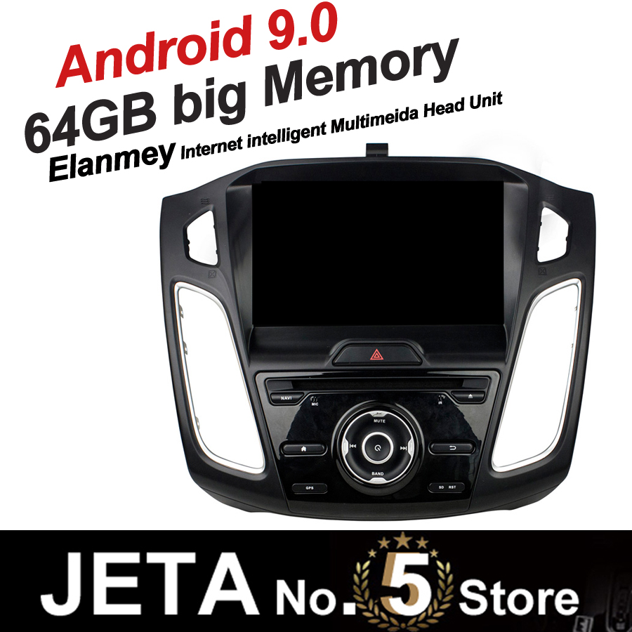 Fit for Focus 2015 2018 Car Radio GPS Music player tape recorder Android 9.0 64GB big memory DSP equalizer IPS touch screen image