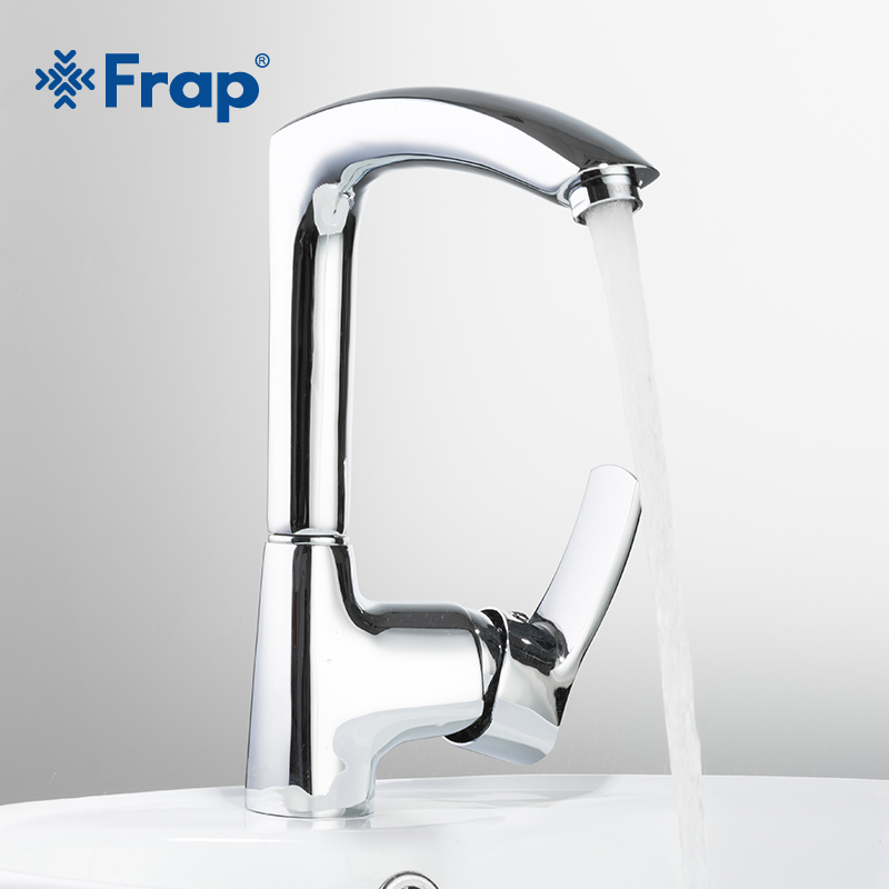 Frap Modern Style Kitchen Faucet Cold And Hot Water Mixer Single Handle Outlet Of Right Angle Design 360 Degree Rotation F4070