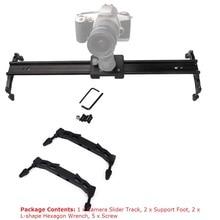 Profesional Cámara Track Resbalador del carro de Amortiguación Sistema Estabilizador de Vídeo 60 CM de Doble vía de deslizamiento-pad 60 CM 23.6 Pulgadas DSLR DV