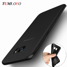 Ultra Thin Black Scrub Matte Soft Silicon TPU Case for font b Samsung b font Galaxy