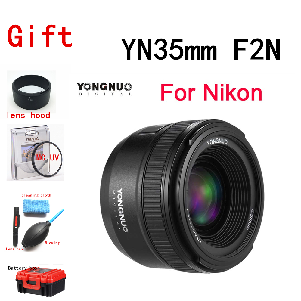 <font><b>YONGNUO</b></font> YN35mm 1:2 F2.0 AF/MF Lens for <font><b>Nikon</b></font> F Mount DSLR Cameras Wide-Angle Fixed/Prime Auto Focus for <font><b>Nikon</b></font> D5300 D7100 D750 image