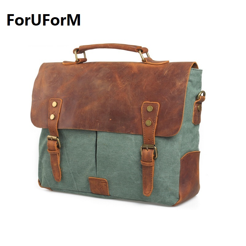 wholesales men messenger bags new fashion male single-shoulder bag Retro canvas bags Vintage school bag LI-225