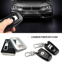 Best Match Car Key Rings Carbon Fiber Car Key Case Chains Badge Case For Bmw GT