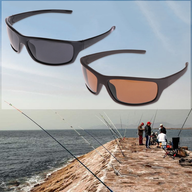 Newest Glasses Fishing Cycling Polarized Outdoor Sunglasses Protection Sport UV400 Men 2Colors