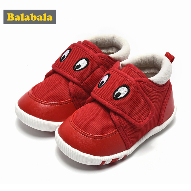 balabala Baby Boys Shoes Baby Toddler Functional Autumn Winter Warm Soft Bottom Rounded Toe Tide Slip Infant Boy Toddler