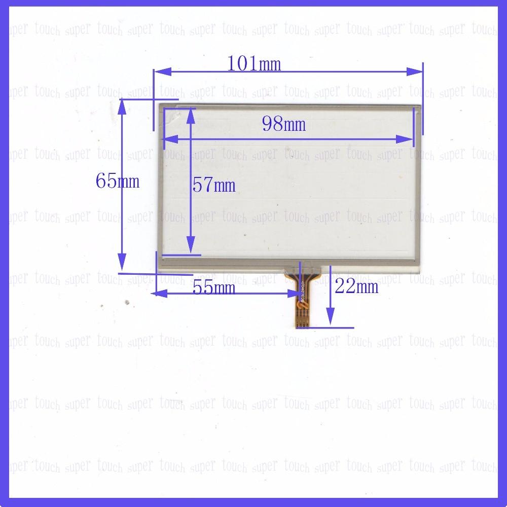 Original nouveau 4.3 ''pouces 101*65 navigation écran externe écriture écran quatre fils résistance 101mm * 65mm tactile