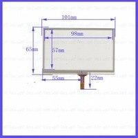 original new 4.3'' inch 101 * 65 navigation external screen handwriting screen four wire resistance 101mm * 65mm touch