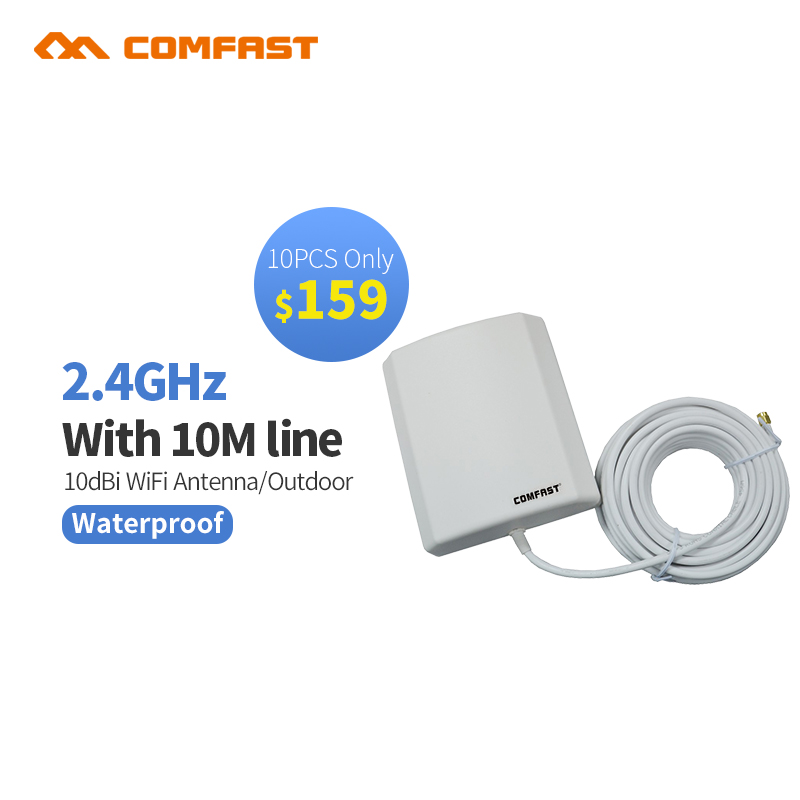 10pocs качество Long Range открытый Wi-fi антенны 2,4 ГГц 10dbi Водонепроницаемый Wi fi Booster Беспроводной открытый антенна для маршрутизатора
