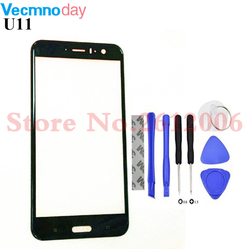 Original For HTC U11 U 11 Front Glass Touch Screen LCD Outer Panel Lens + Tools