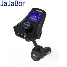 Jajabor Bluetooth-гарнитуры для авто громкой связи Dual USB Автомобильное Зарядное устройство AUX 3.5 мм стерео Автомобильный MP3-плеер fm-передатчик большой ЖК-дисплей Экран Дисплей