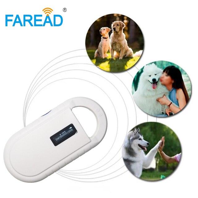 YENI Ücretsiz kargo Pet Mikroçip ISO11784/85 134.2KHz FDX B küçük Taşınabilir Tarayıcı, Hayvan Etiketi çip Okuyucu, LF RFID El Okuyucu