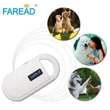 새로운 무료 배송 애완 동물 마이크로 칩 iso11784/85 134.2 khz FDX B 소형 휴대용 스캐너, 동물 태그 칩 리더, lf rfid 핸드 헬드 리더