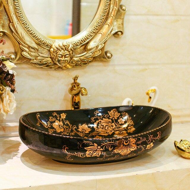 Owalne Ceramika Sanitarna Wc Umywalka Sztuki Umywalka Do Mycia
