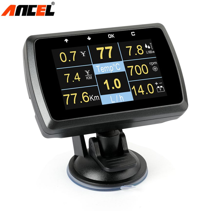 Ancel A501 Car OnBoard Computer OBD 2 Auto Code Reader Fuel Consumption Water Temperature Volt Digital Display Car Speed Gauge