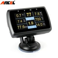Ancel A501 OBD2 HUD Display On board Computer For Car Fuel Consumption Temperature Meter Speedometer 2 in 1 OBD2 Head Up Display