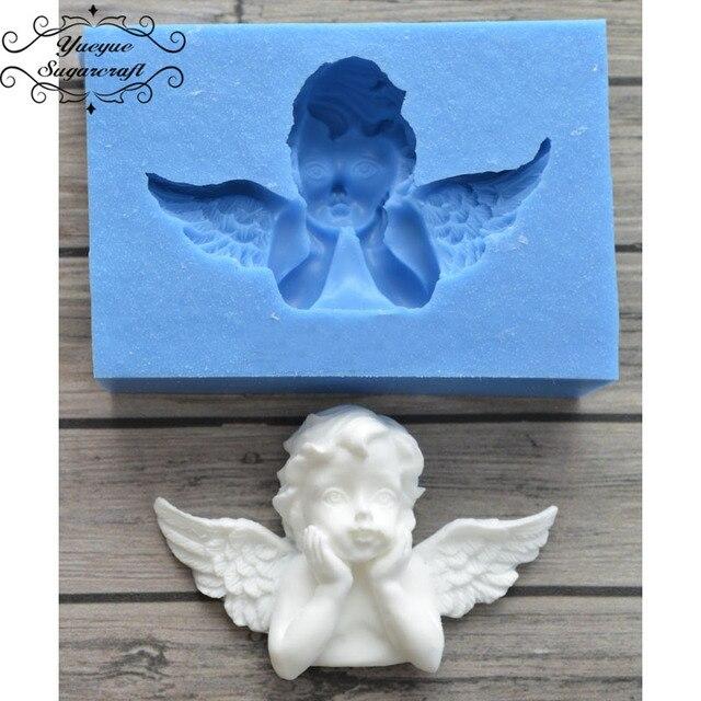 Newest Angel Frame Silicone Mold Fondant Mold Cake