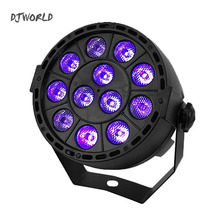 LED Flat Par 12x3W Ultraviolet Color Lighting With DMX512 for For Atmosphere of Disco DJ Music Party Club Dance Floor