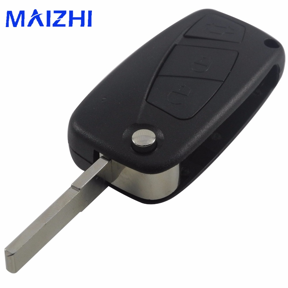 maizhi 3 Buttons For FIAT Punto Ducato Stilo Panda Bravo Navy Flip Fob Black 3 BTN Folding Remote Key Shell Case Cover free shipping flip remote key shell colorful replacement cover shell for fiat 500 panda punto bravo case