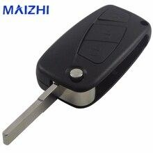 maizhi 3 Buttons For FIAT Punto Ducato Stilo Panda Bravo Navy Flip Fob Black 3 BTN Folding Remote Key Shell Case Cover