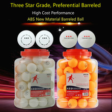 60 Balls 1 Bbarrel Three-Star Table Tennis Ball New Material Training Competition International Standard Size Pingpong ping-pong