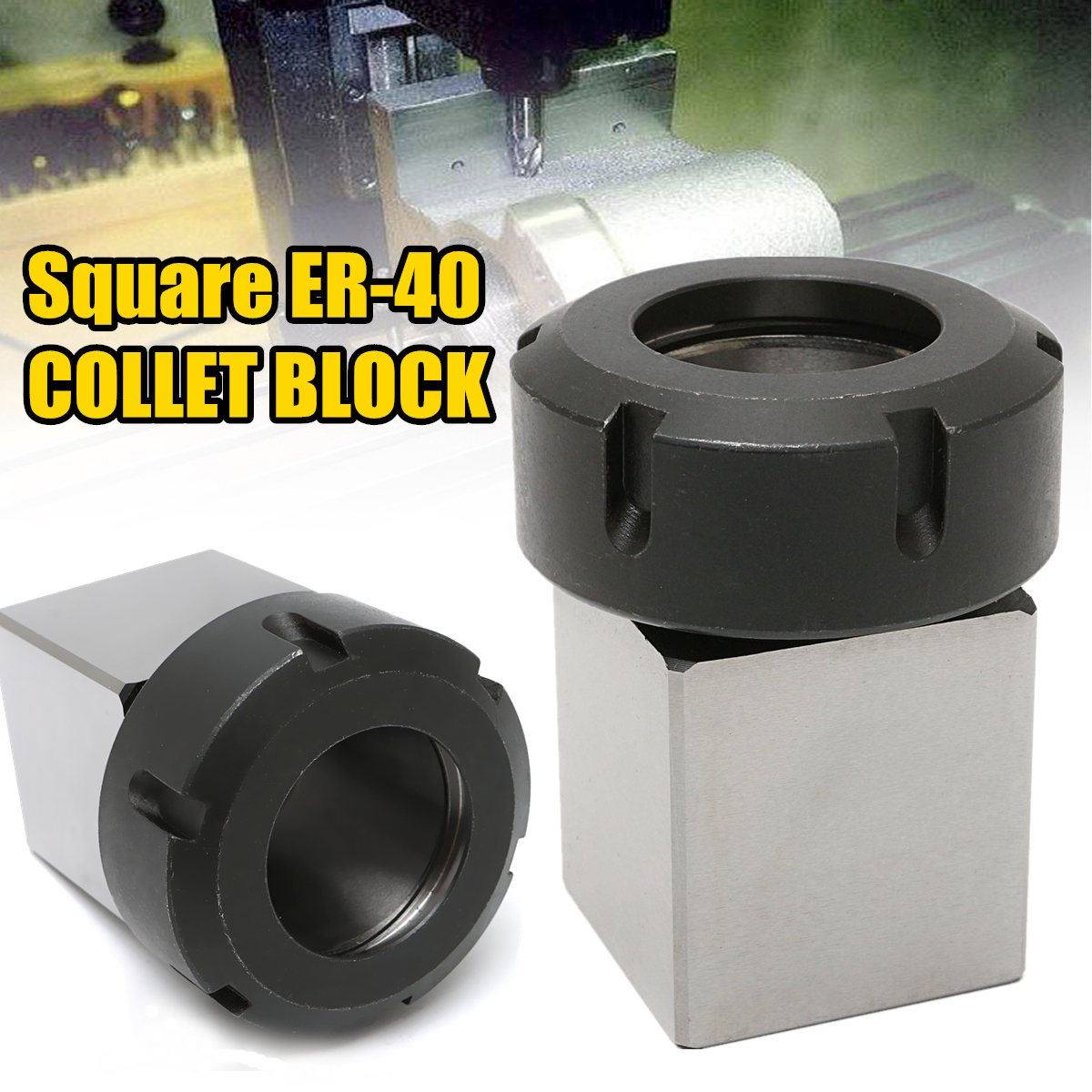 1pc New High Strength ER-40 3900-5125 Square Collet Chuck Block Holder For CNC Lathe Engraving Machine CNC Machines 1pc square er40 collet chuck block holder 3900 5125 for cnc lathe engraving machine cross hole drilling