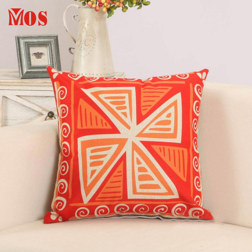 New Qualified 2017 Hot Selling Printed Pillowcases Cotton Linen Throw Pillow Sofa Cushion Cover Car Home Decor D23Se15