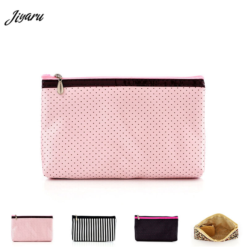 Women Cosmetic Bags Waterproof Brushes Case Ladies Portable Makeup Bags with Mirrow Women Travel Storage Bag Organizer Pouch