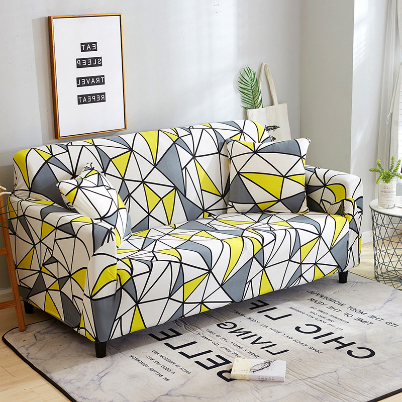 Funda de sofá elástica Protector de muebles de poliéster funda de sofá l 1/2/3/4 asientos para la sala de