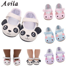 2018 New Fashion for 43cm baby Dolls shoes for Reborn Bebe Doll shoes 7cm Mini Leather Shose 18 inch girl doll cute shoes(China)