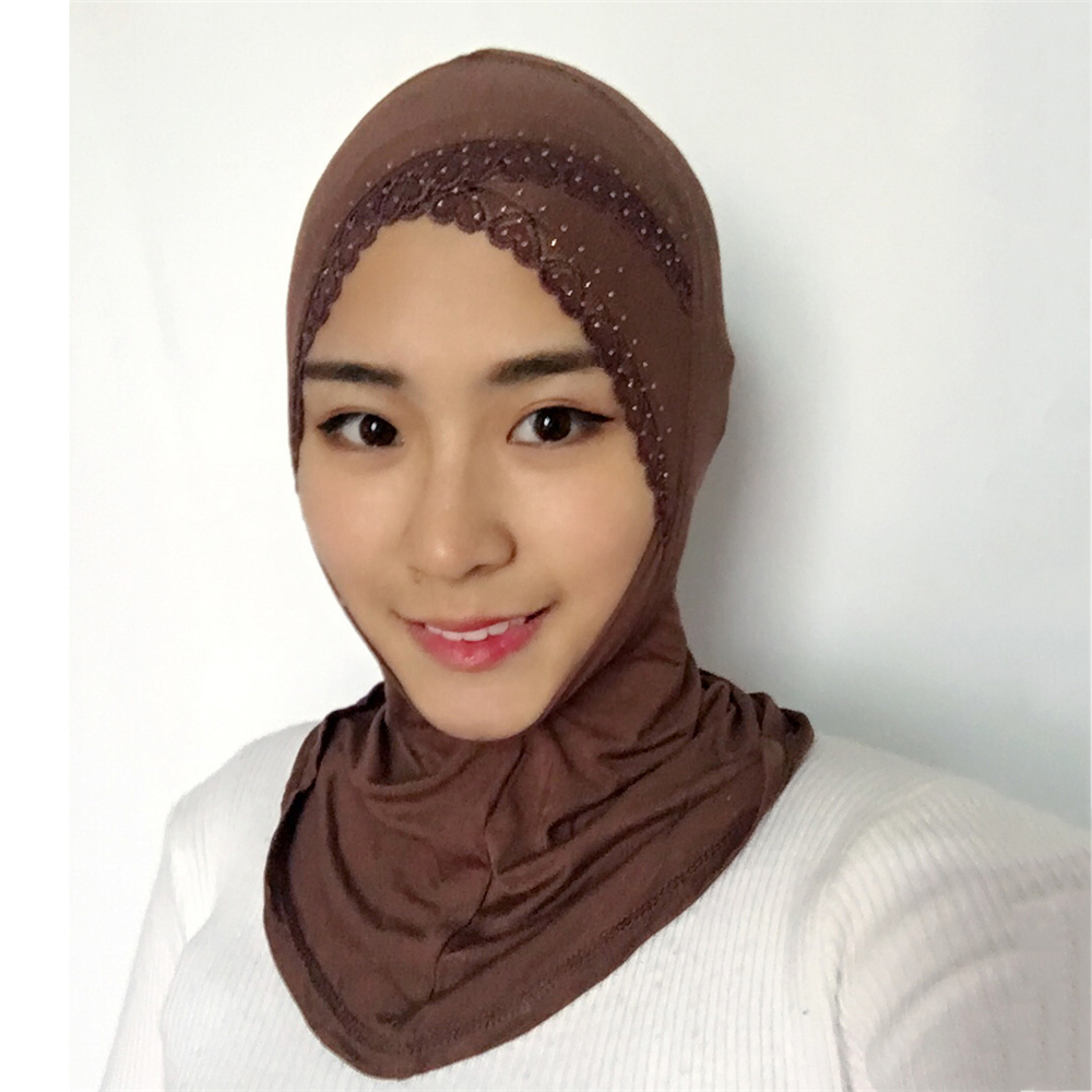 Traditional & Cultural Wear Islamic Clothing Muslim Hijab Inner Skaf Scarf Neck Dagu Modal Anti Tembam Women Underscarf